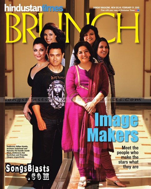 Brunch Magazine Cover With Famous