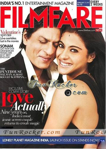 Shahrukh Khan and Kajol on Filmfare Magazine