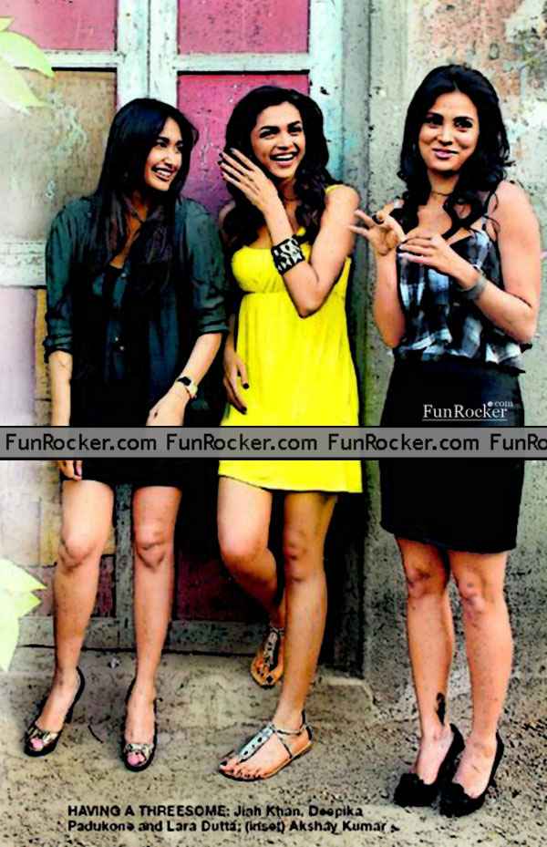 Lara, Deepika and Jia in Houseful