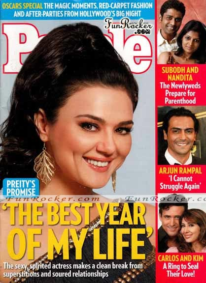 Preity Zinta At People Magazine March 2010