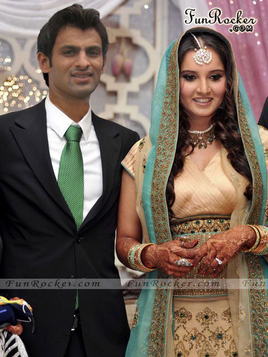 Shoaib Malik And Sania Mirza Wedding Picture