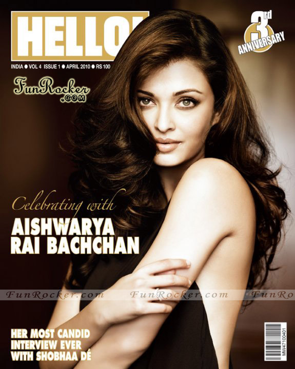 Aishwarya Rai Bachchan Hello Magazine April 2010