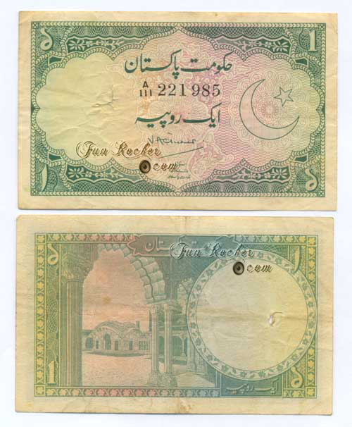 Pakistani Currency Note Rupee