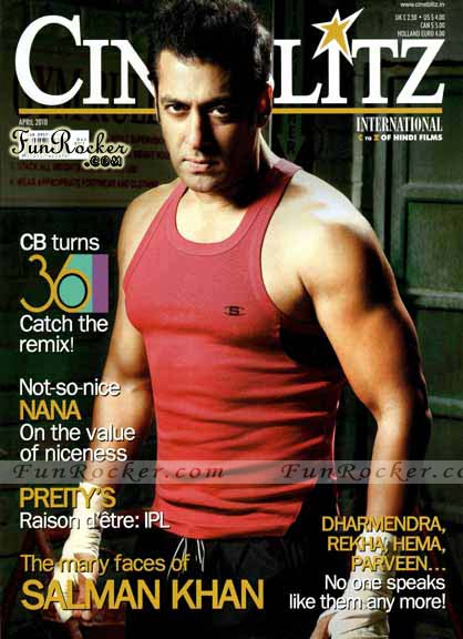 Salman Khan On CineBlitz Magazine April 2010
