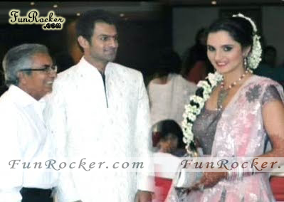 Sania Mirza Shoaib Malik Real Wedding Picture