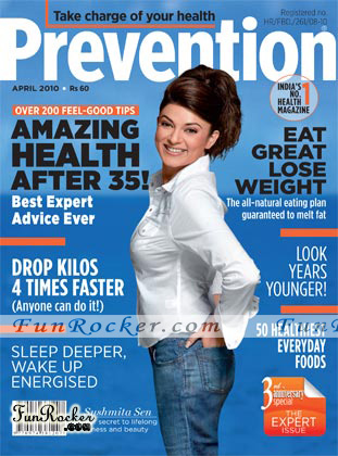 Sushmita Sen Prevention Magazine