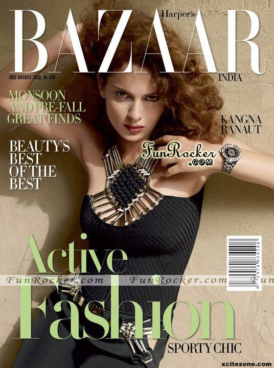 Kangana Ranut On Harpers Bazaar August 2010