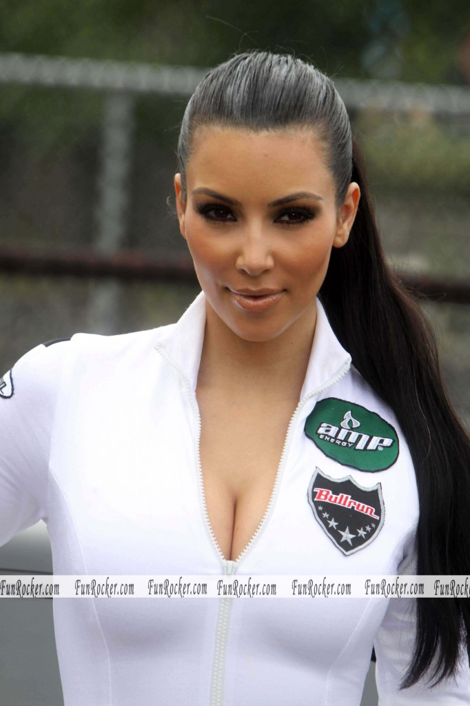 Kim Kardashian At AMP Energy Bullrun Rally Kick Off