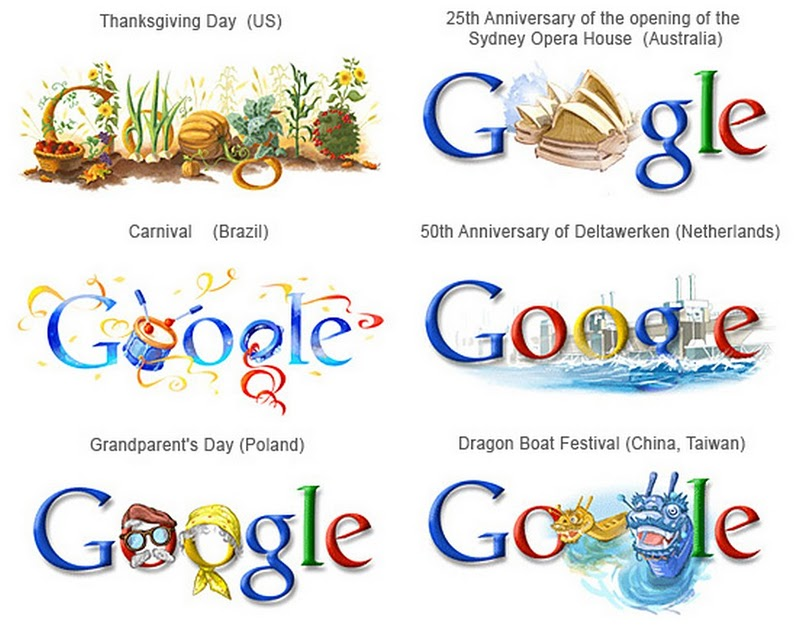 Unseen Google Logos Of The World