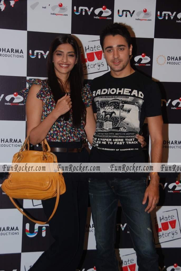 i hate luv story game launch with Sonam and Imran