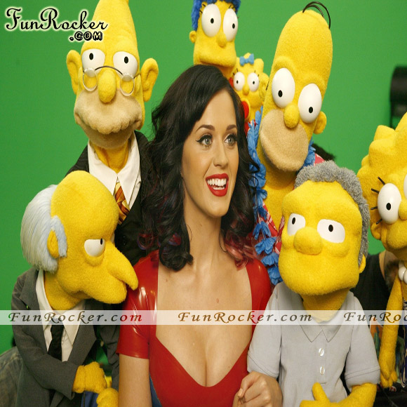 Katy Perry The Simpsons First Look Pcitures