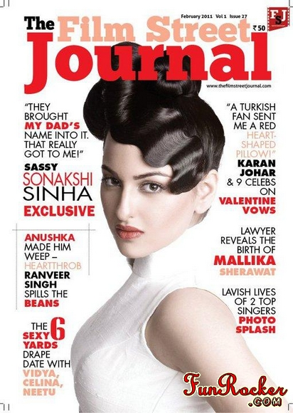 Sonakshi Sinha At The Film Street Journal Magazine FEB 2011