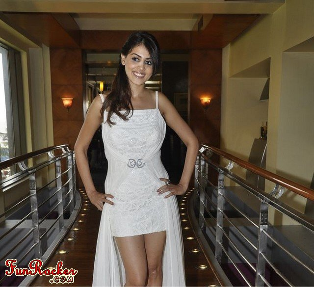 Genelia D Souza In White Suite at Neeta Lulla Aston Martin Brunch