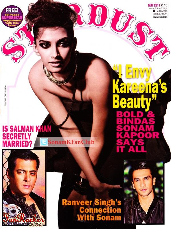 Sonam Kapoor On Stardust Magazine May 2011