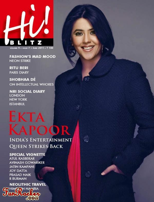 Ekta Kapoor At Hi Blitz Magazine June 2011
