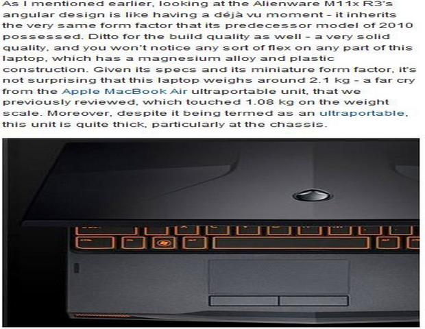Latest Alienware M11x R3 Laptop