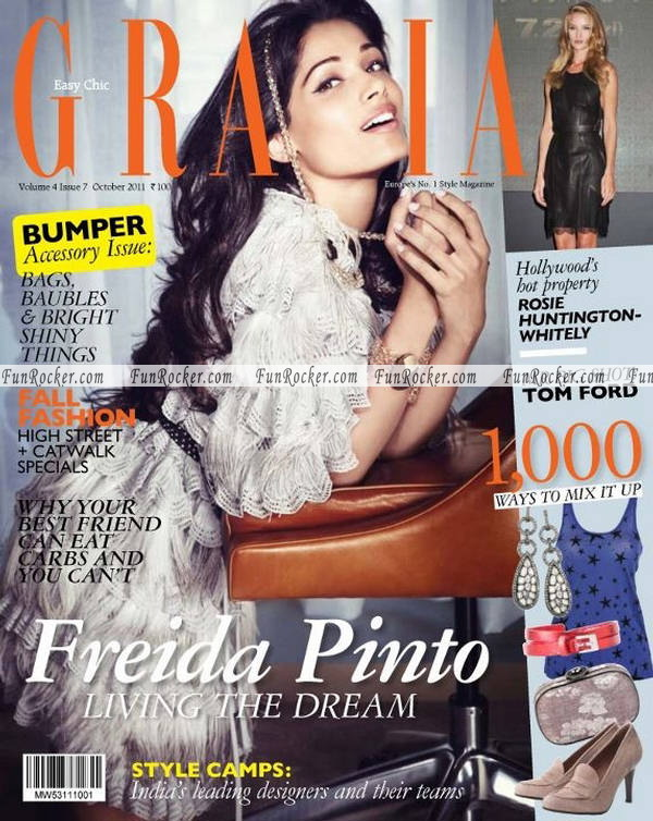 Freida Pinto Grazia India October