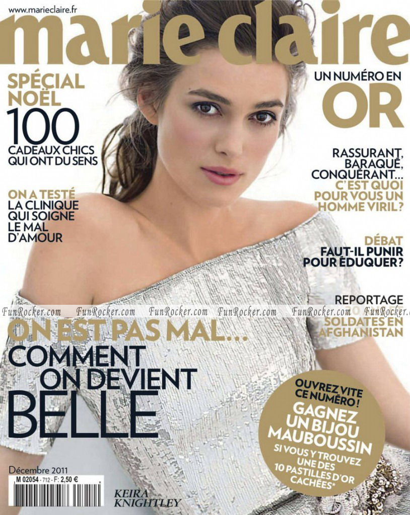 Keira Knightley Marie Claire France Magazine December 2011