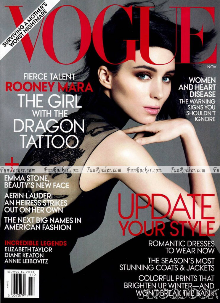 Rooney Mara Vogue US November