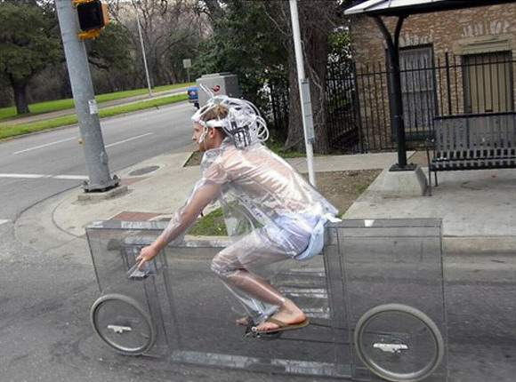 Transparent Glass Bicycle