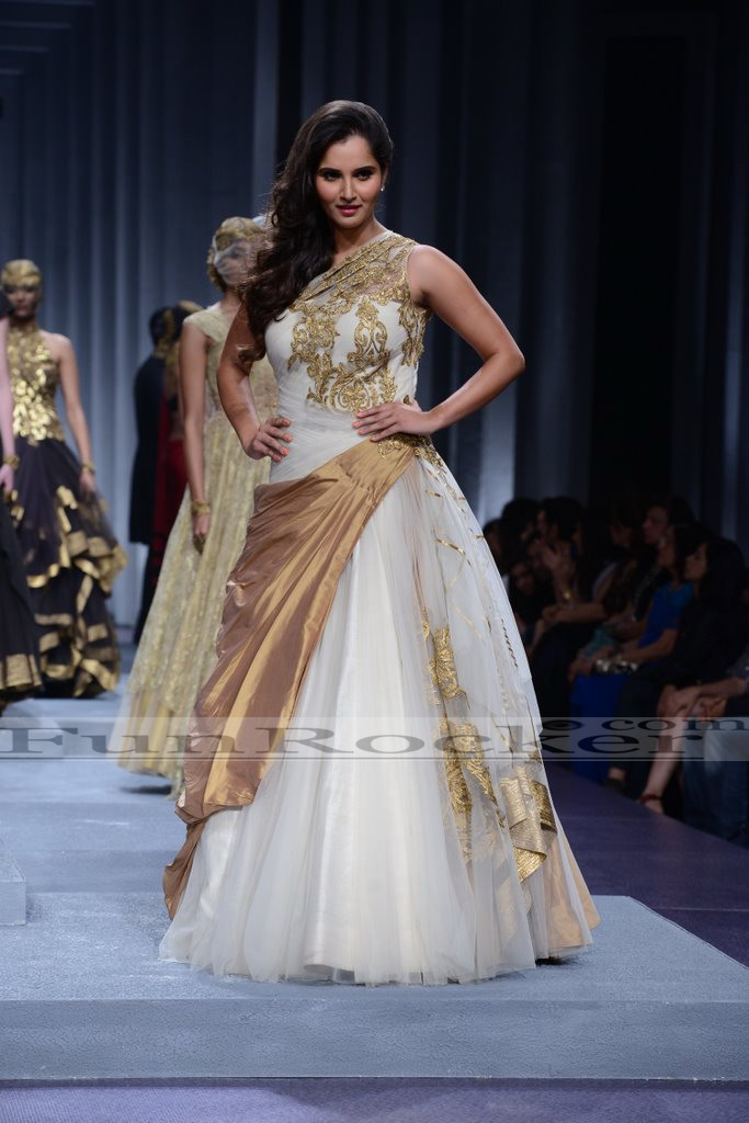 Tennis Star Sania Mirza Walks at Bridal Fashion Week