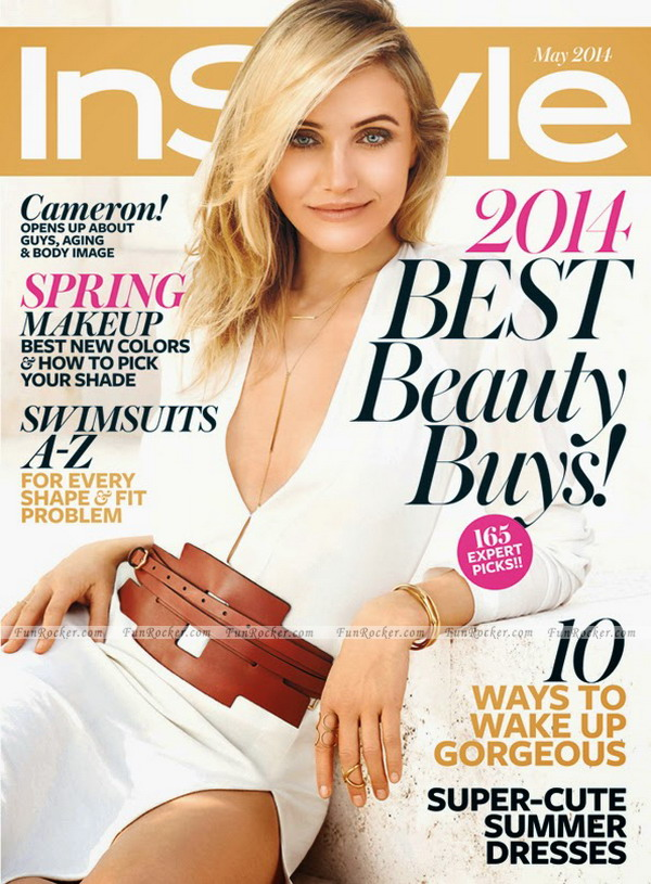 Cameron Diaz on InStyle Magazine May 2014