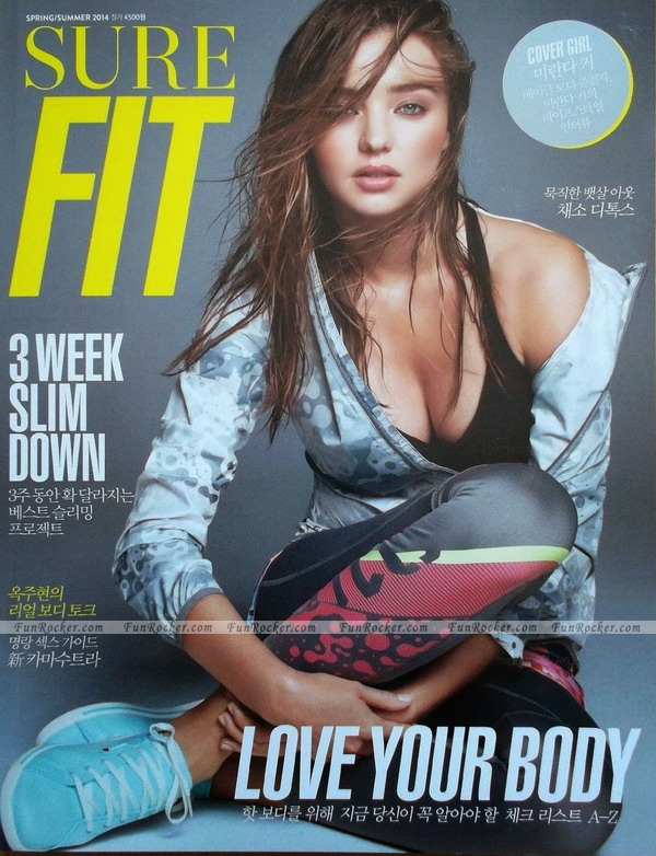 Miranda Kerr on Sure Fit Magazine June 2014
