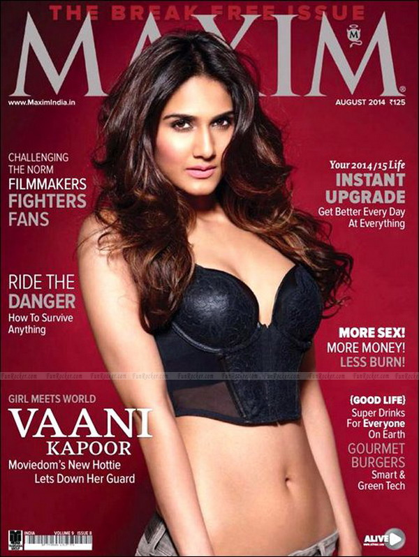 Vaani Kapoor on Maxim Magazine August 2014