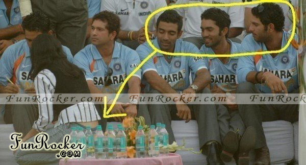 Indian Cricketer Enjoying While Watching Exposed Girl