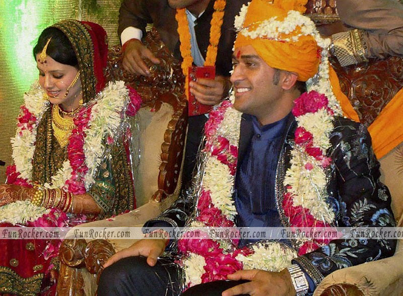 Dhoni Sakshi Wedding High Quality Pictures